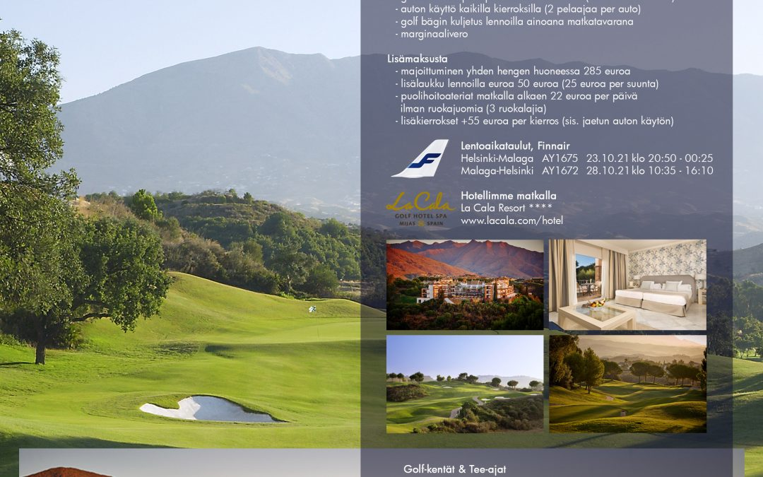 Golfmatka Andalucian auringon alle